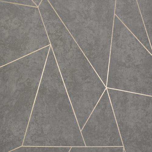Tapeta Beton Złota Geometria Do Salonu Nowoczesna Magic Home