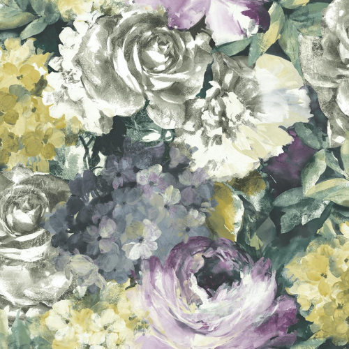 Tapeta Do Sypialni Pastelowe Duże Kwiaty Magic Home